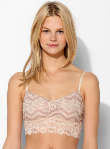 Urban Outfitters- bralette with a wide lace band