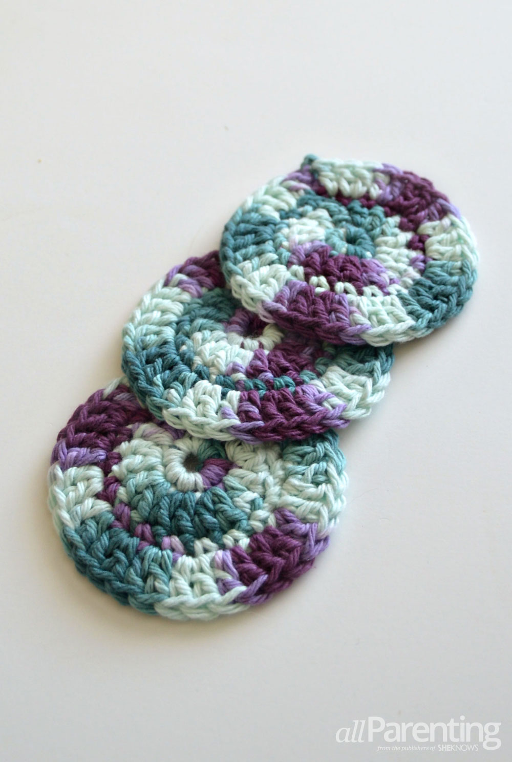 allParenting crochet face scrubbies