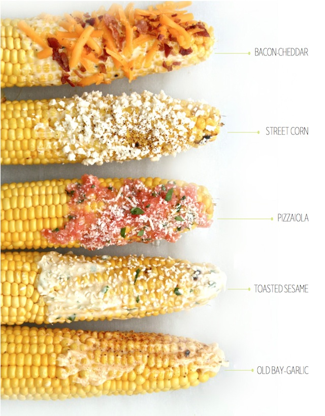 Easy Grilled Corn-On-The-Cob 5 Ways