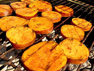 Grilled Cinnamon Sweet Potatoes