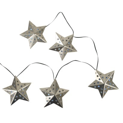 Outdoor living- solar metal star lights