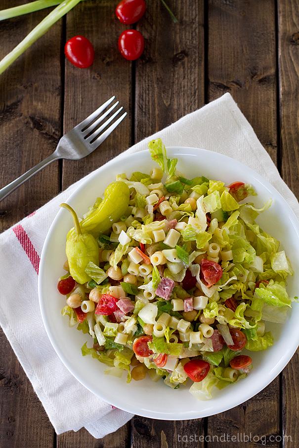 Simple summer salads- Italian chopped salad