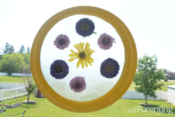 allParenting Pressed flower suncatcher