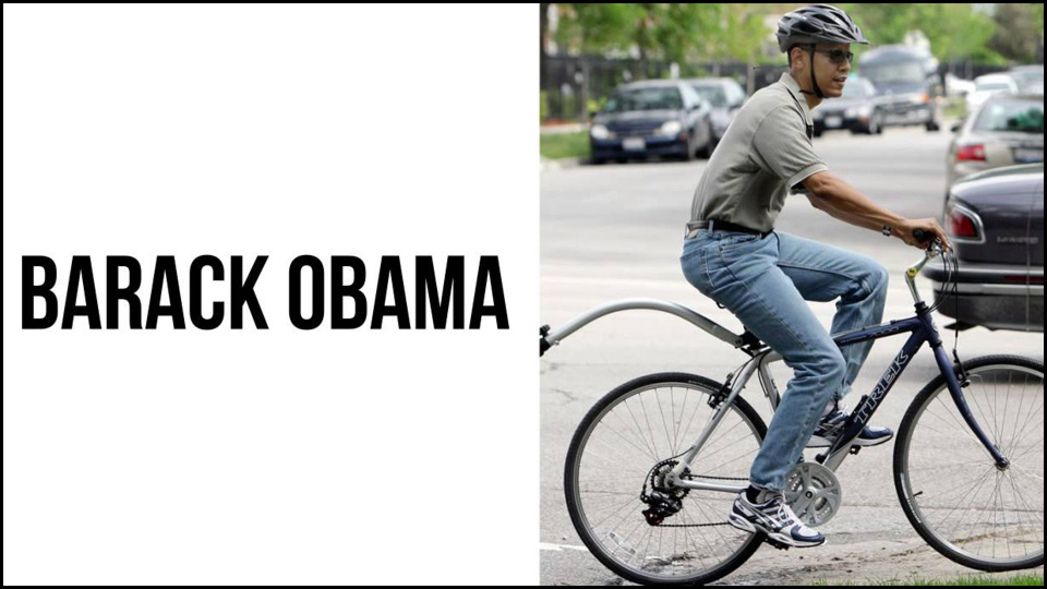 Obama wearing dad jeans