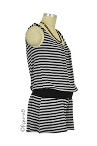 Striped pregnancy romper