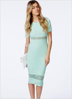 Shop the look: Jalisa Mint Mesh Panel Midi Dress (missguidedus.com, $45)
