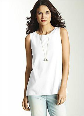 Shop the look:J. Jill Perfect Pima Cotton Sleeveless Tee in White (jjill.com, $29)