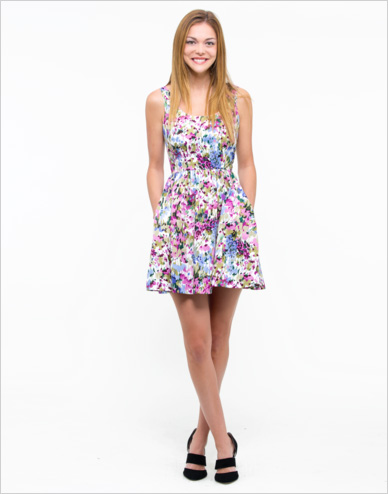 Shop the look: Oak73 Painted Floral Dress ($110)