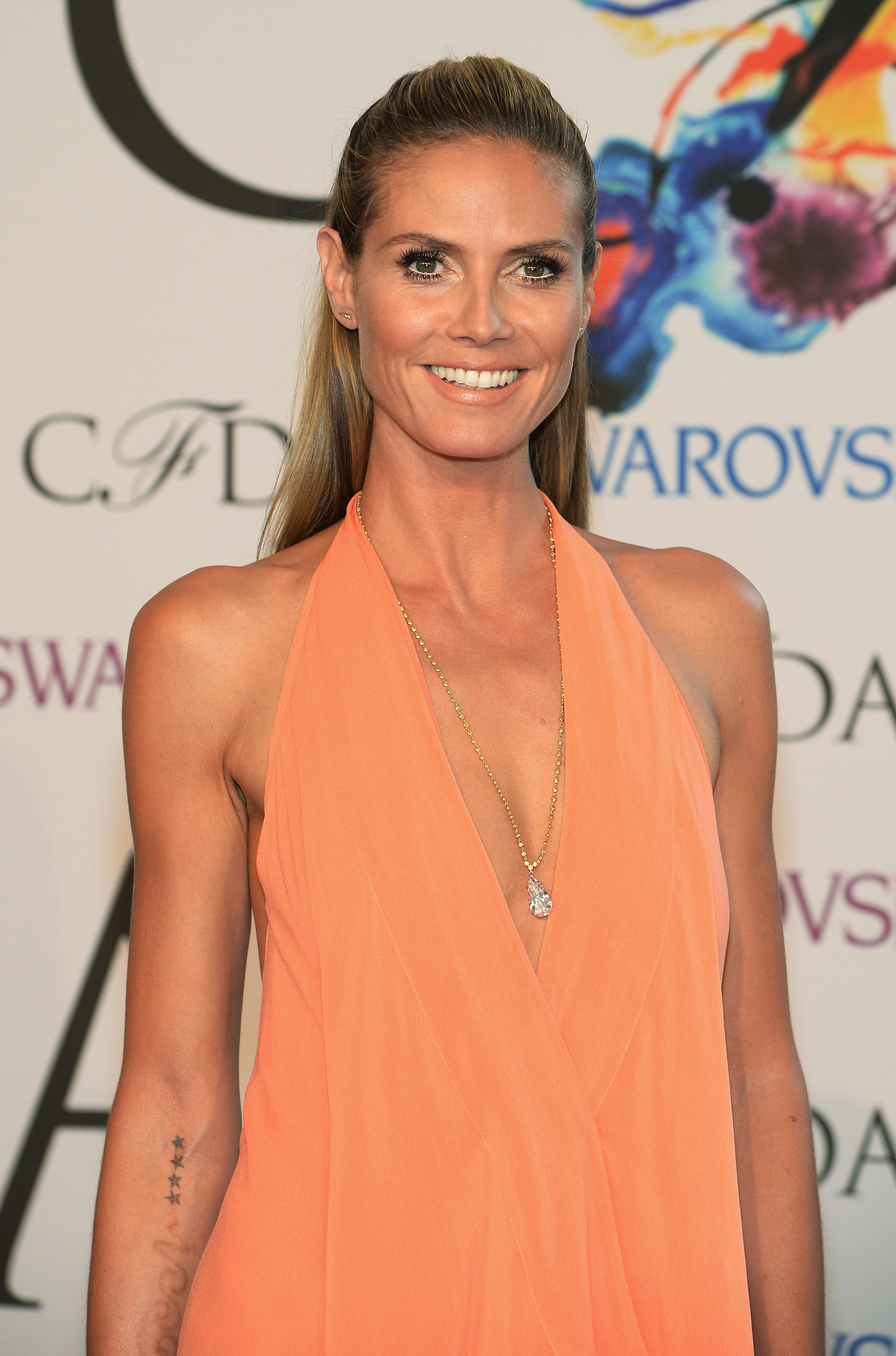 Heidi Klum wearing a body chain