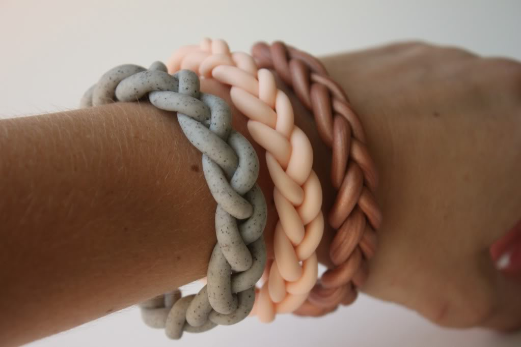 Clay braided bracelet