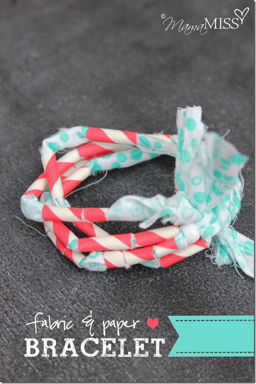 Fabric & paper bracelet