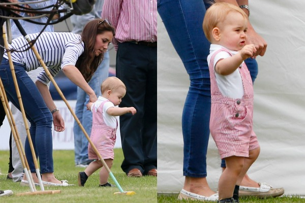Prince George is walking