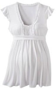 White pregnancy tee-shirt