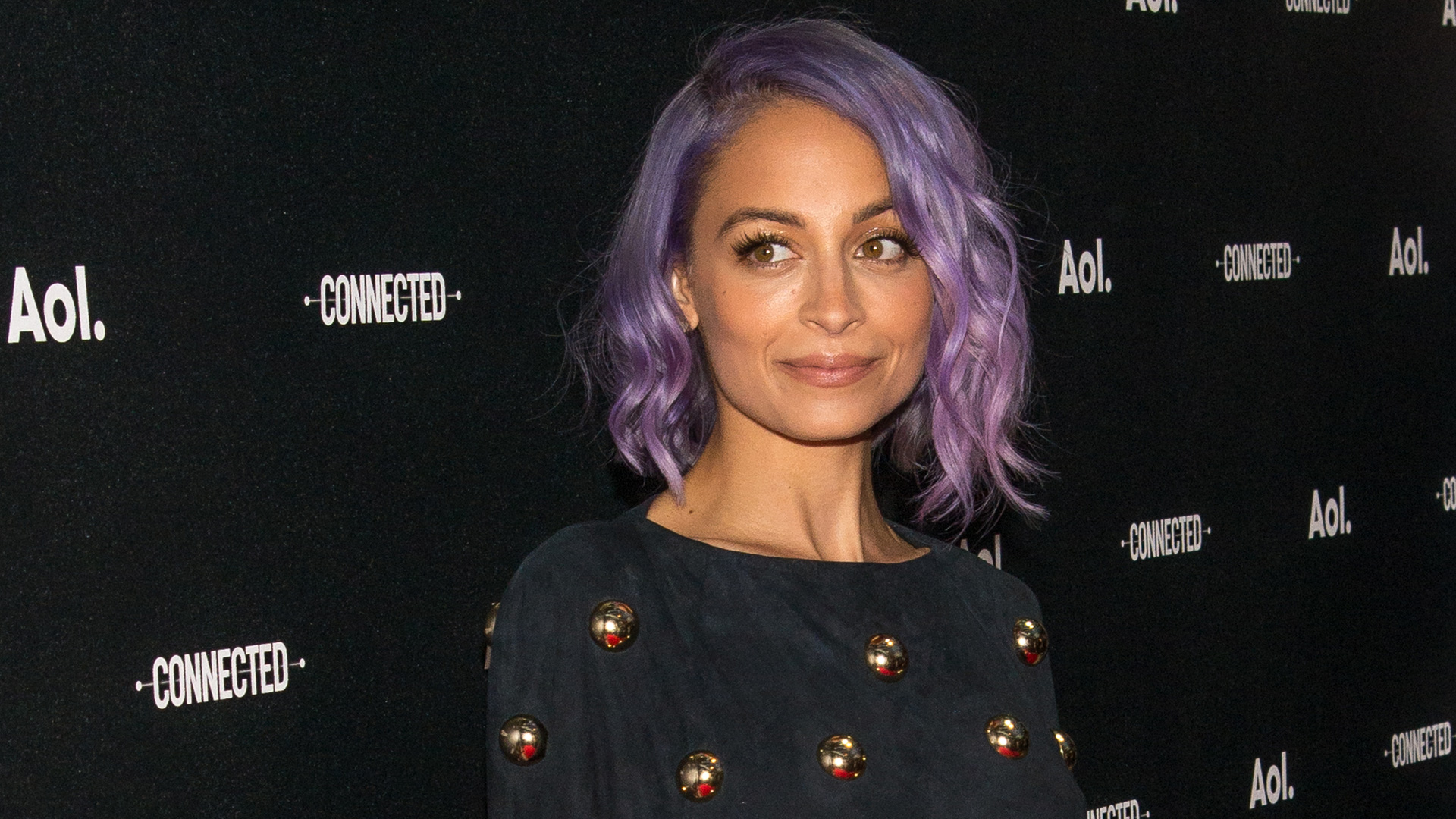 Nicole Richie with a purple bob