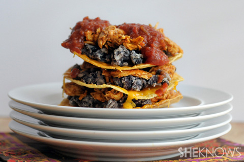 massive stacked nachos