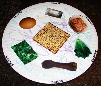 Paper Seder plate for Passover