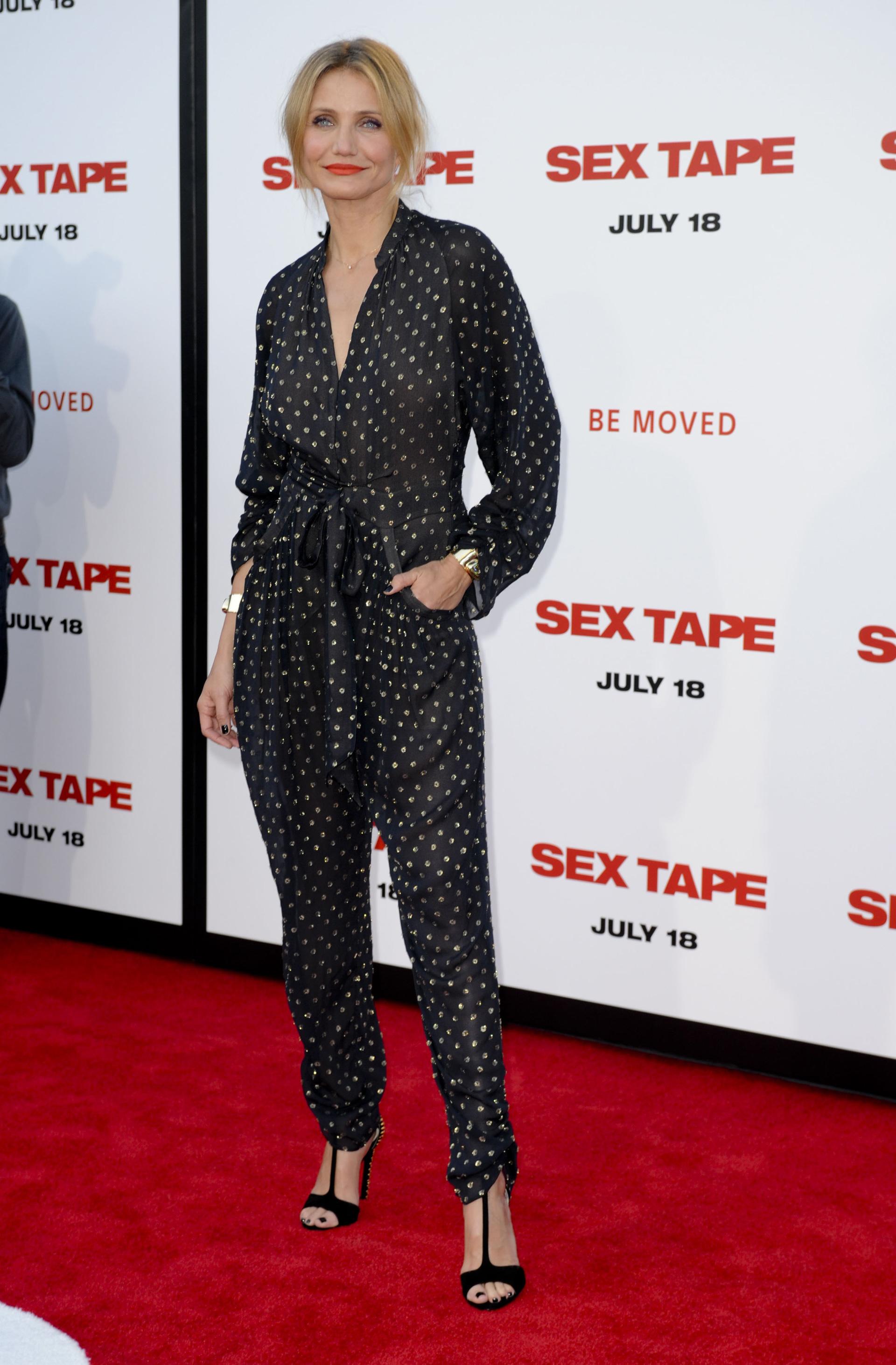 Cameron Diaz wearing a jumpsuit