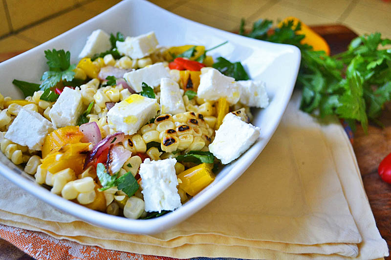 Char-grilled corn salad