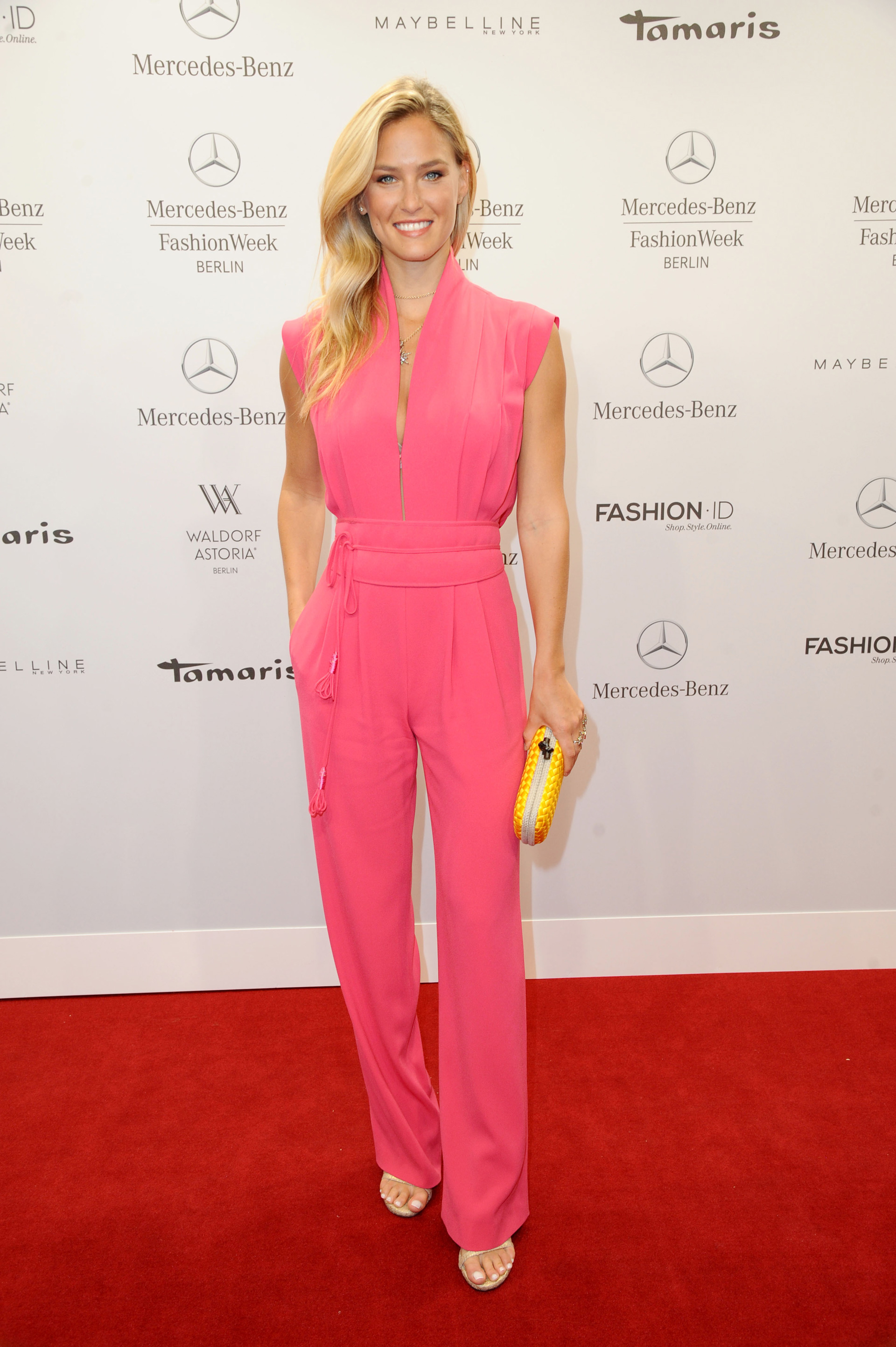 Bar Refaeli wearing a jumpsuit