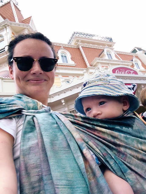 Tricia baby wearing at Disney | Sheknows.com