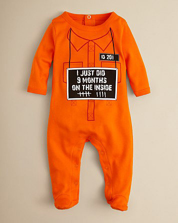Prison jumpsuit onesie | Sheknows.com