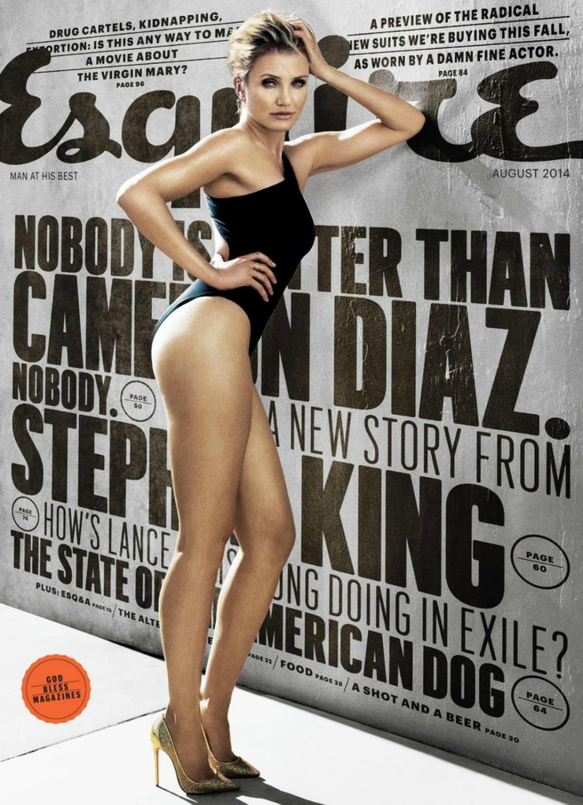 Diaz looks amazing on August Esquire cover