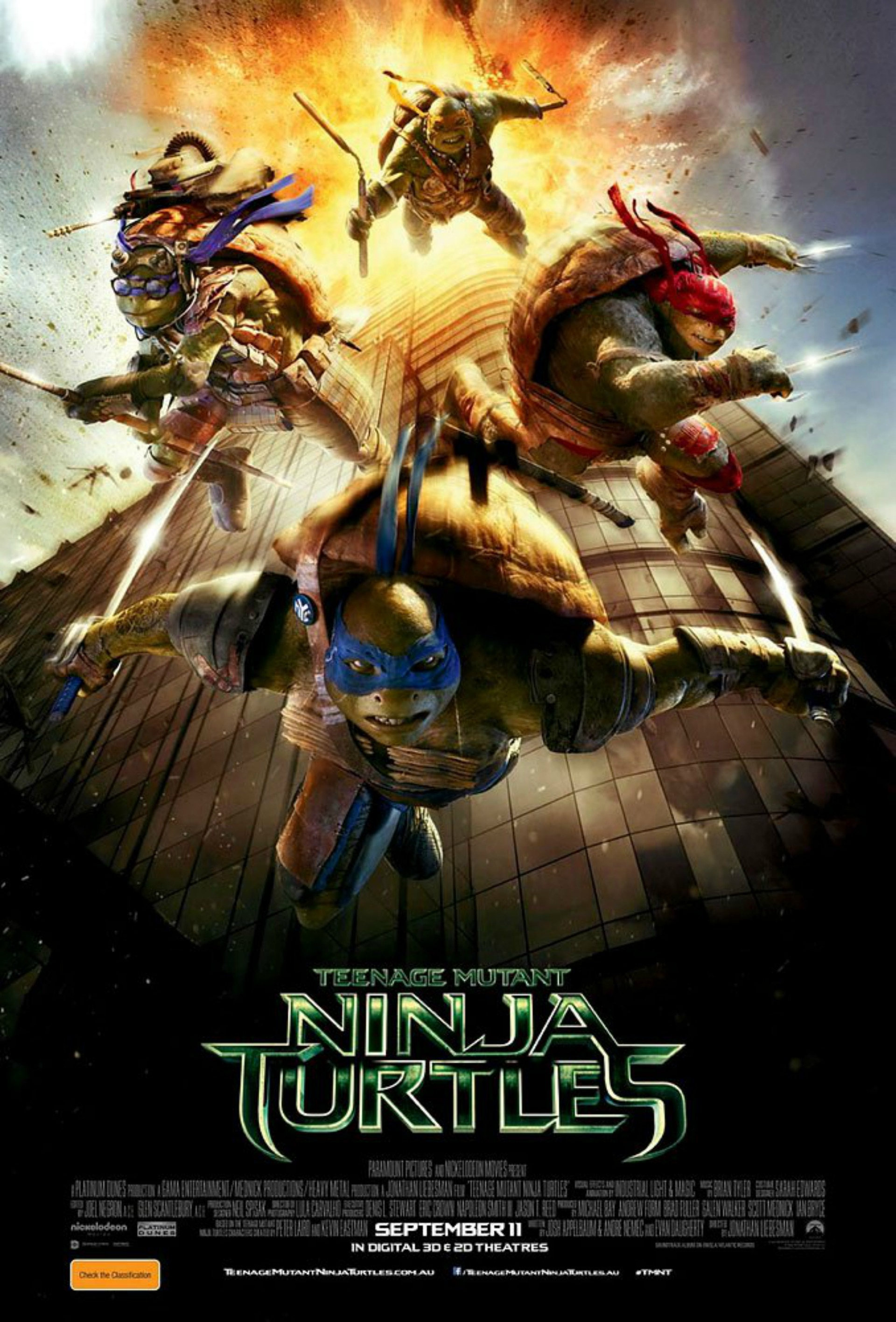 Way too soon, Paramount. Studio stirs controversy over Sept. 11 Ninja Turtles poster