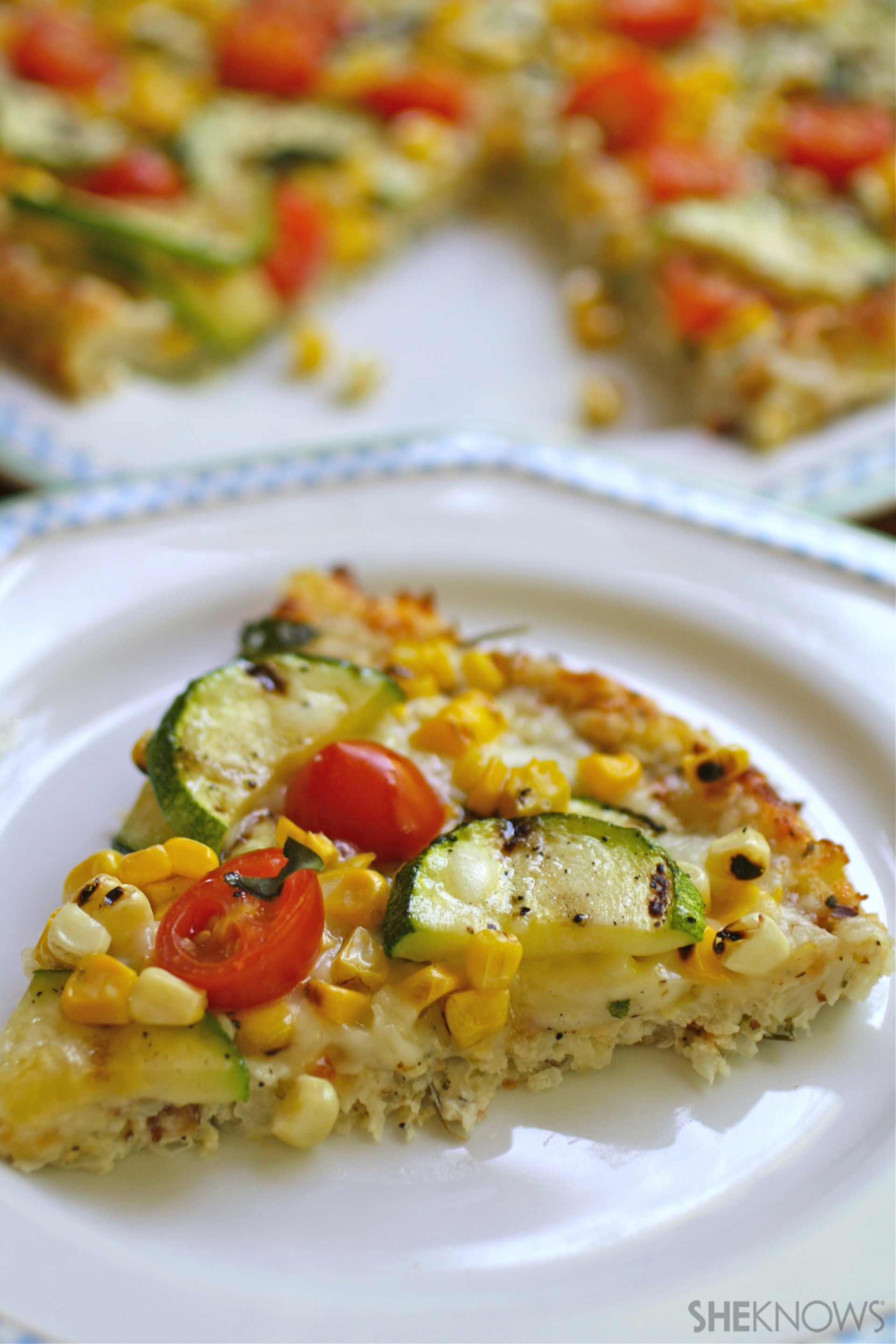 Put a summer spin on pizza with garden-fresh veggies from top to bottom