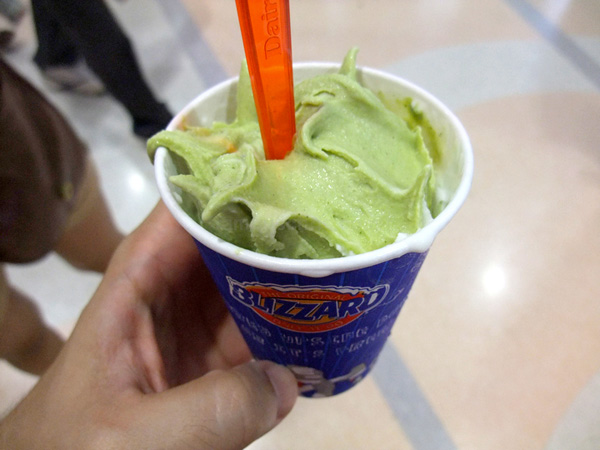 Green tea blizzards, Dairy Queen, Thailand