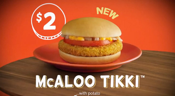 McAloo Tikki, McDonalds, India
