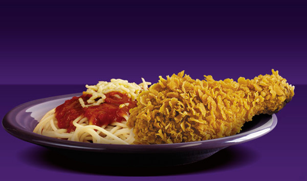 Chicken McDo with spaghetti, McDonalds, Philippines