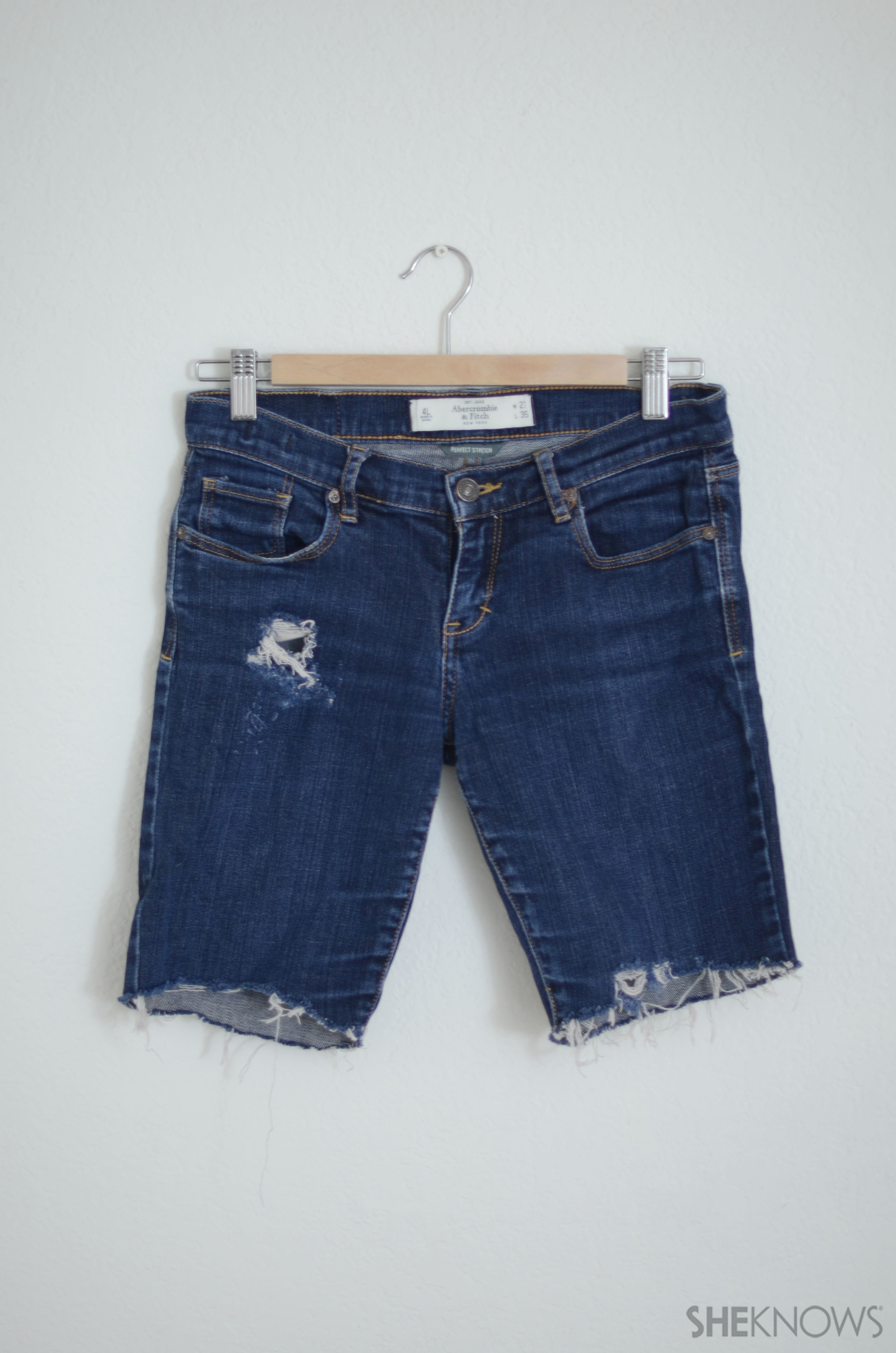 DIY Jeans to Shorts Upcycle