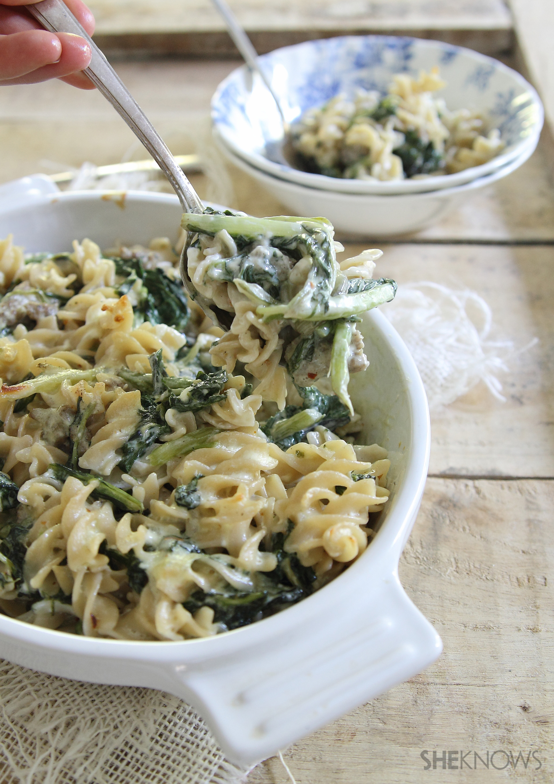 Spicy mac and swiss chard