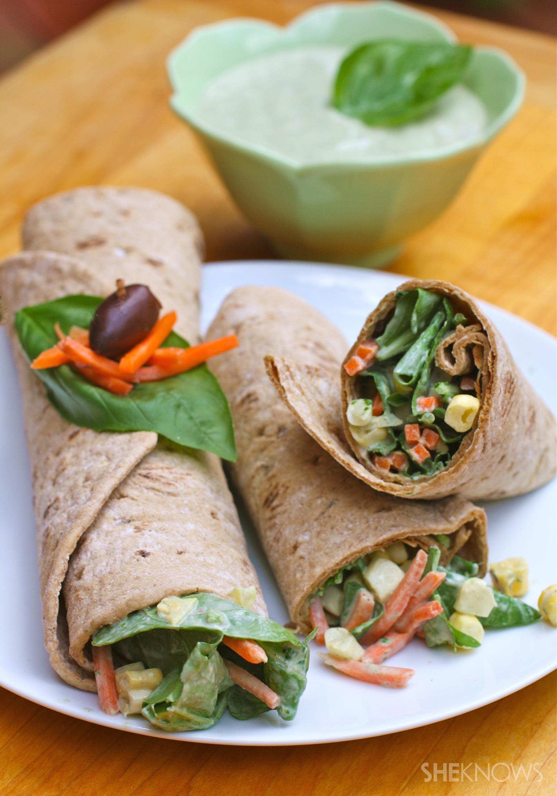 Green goddess salad wraps