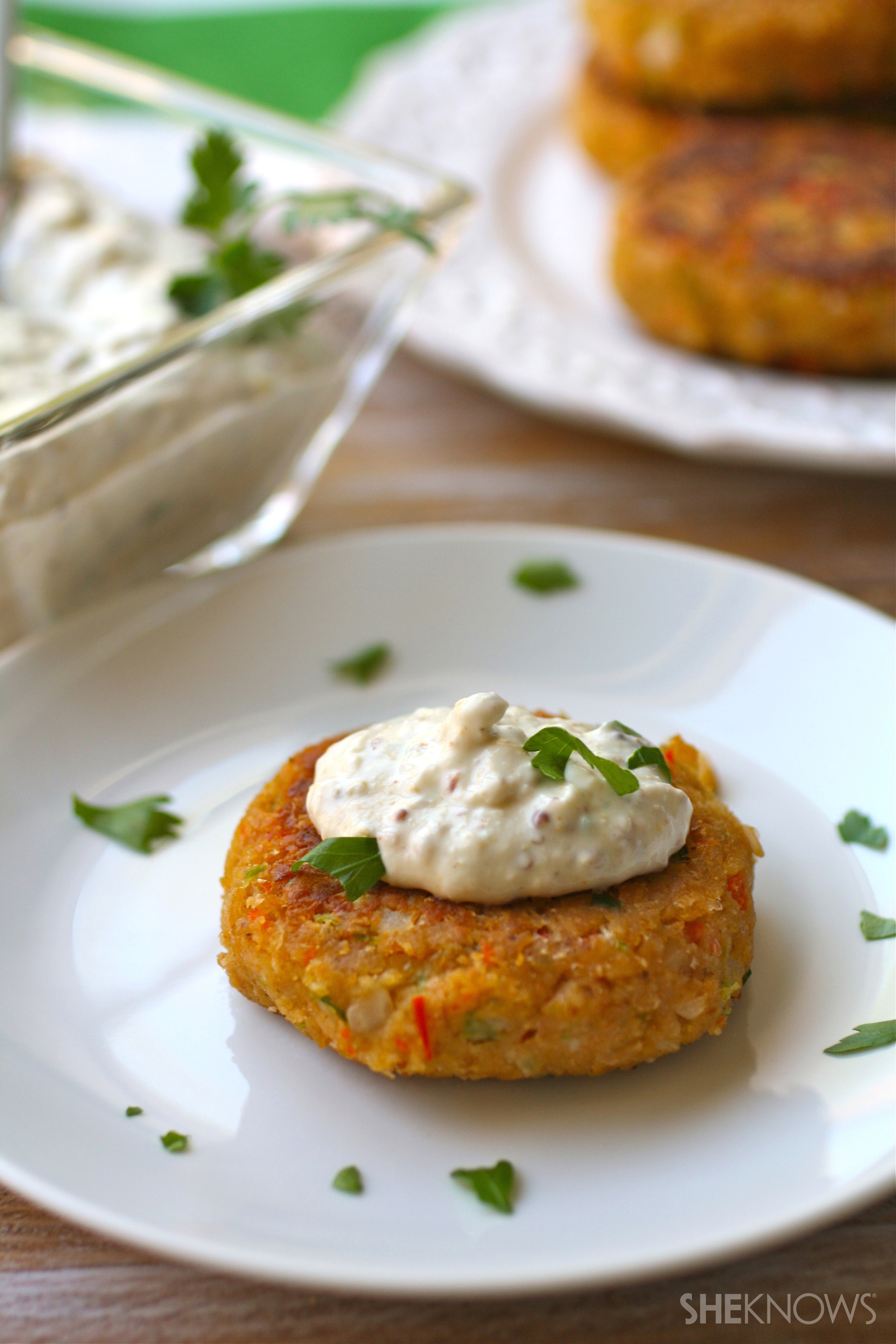 Give your crabcakes a Meatless Monday makeover