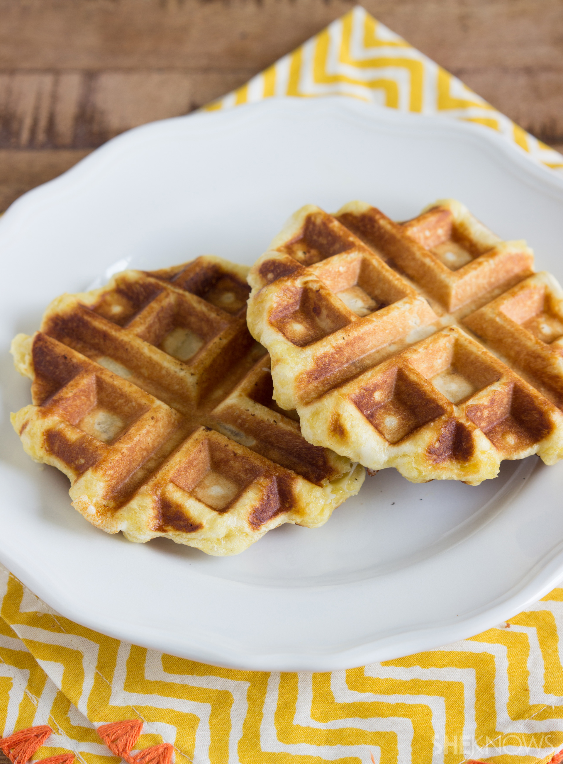 That waffle iron isn't just for breakfast... Use it for a super-easy, stuffed waffle dinner
