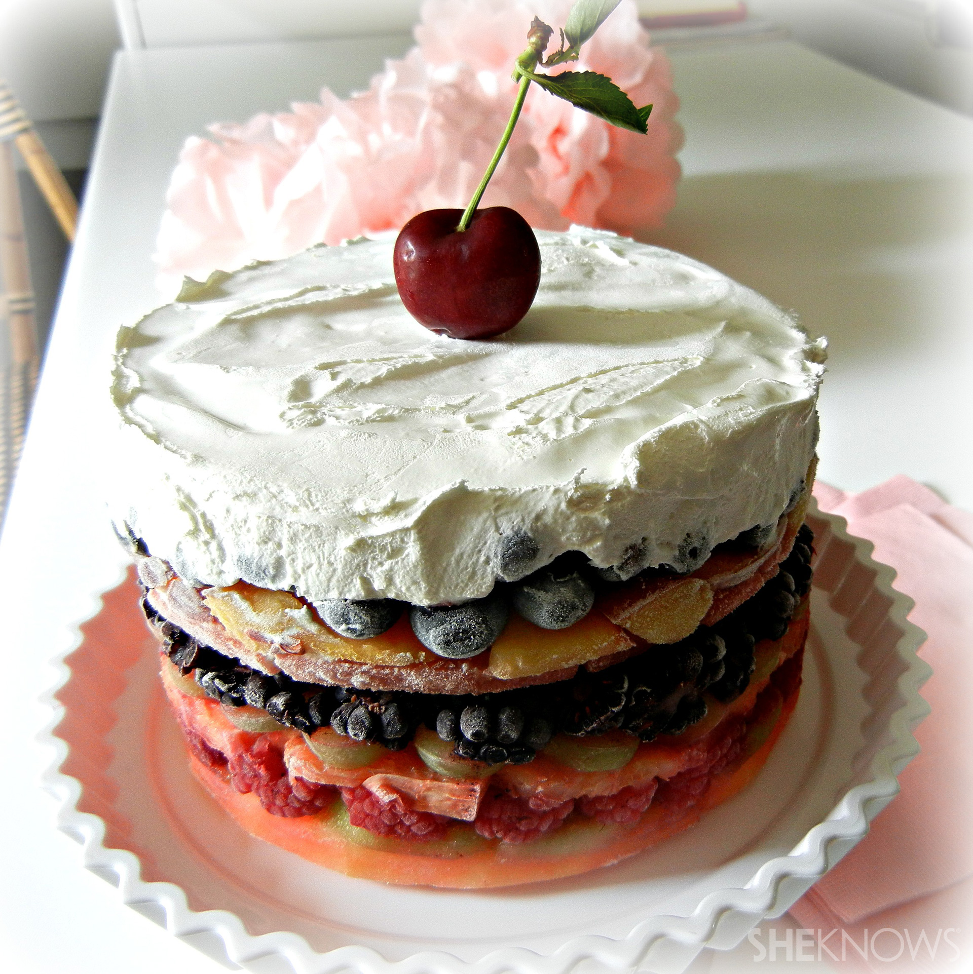 Cake With Fruit Layers : It s like eating the rainbow: Fresh-fruit layer cake
