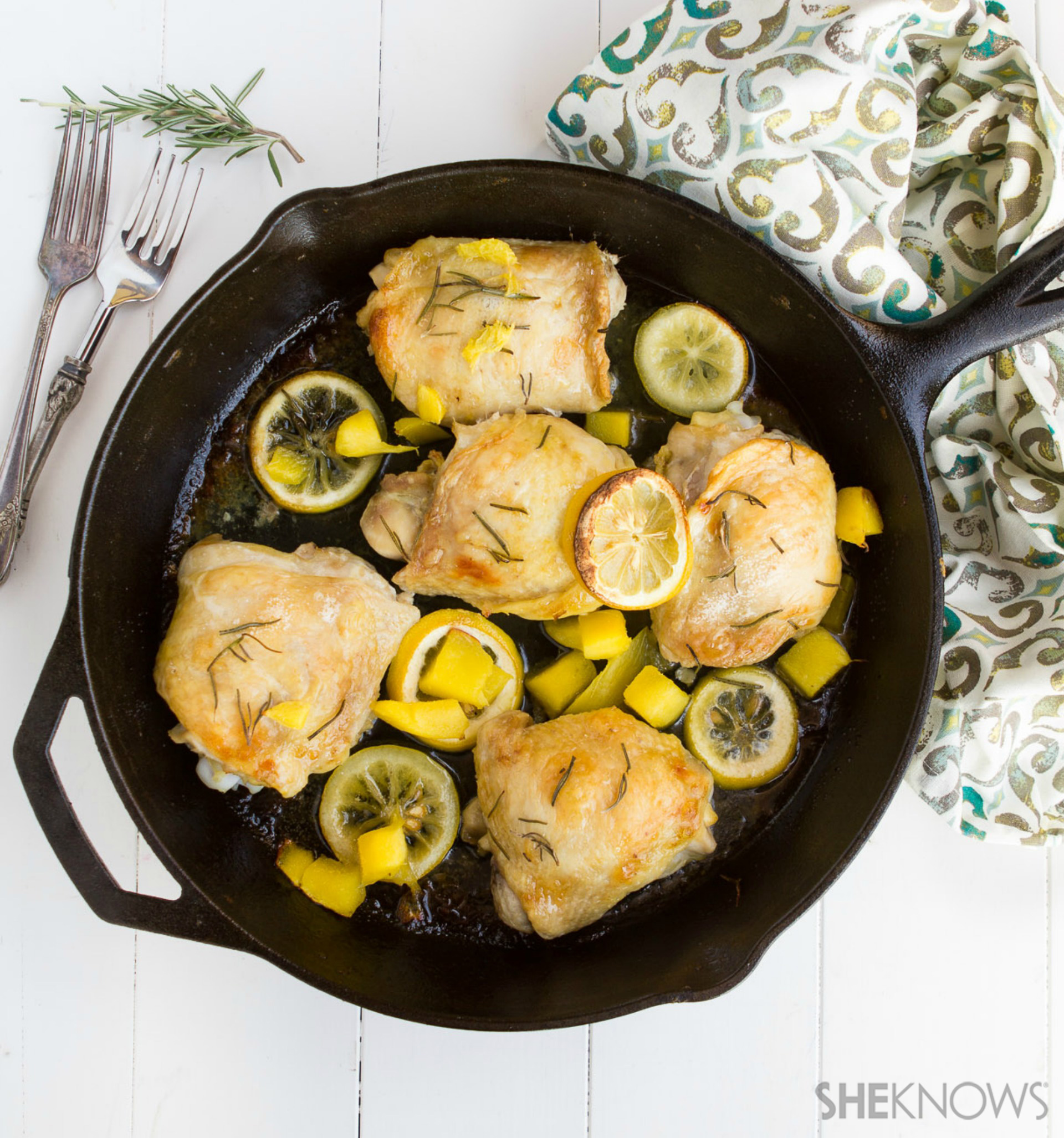 All you need is one pan for this summery chicken dinner