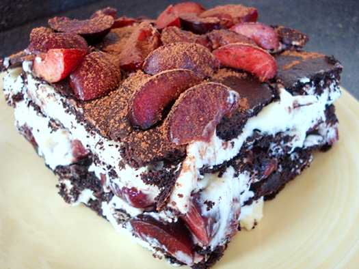 Black forest icebox cake