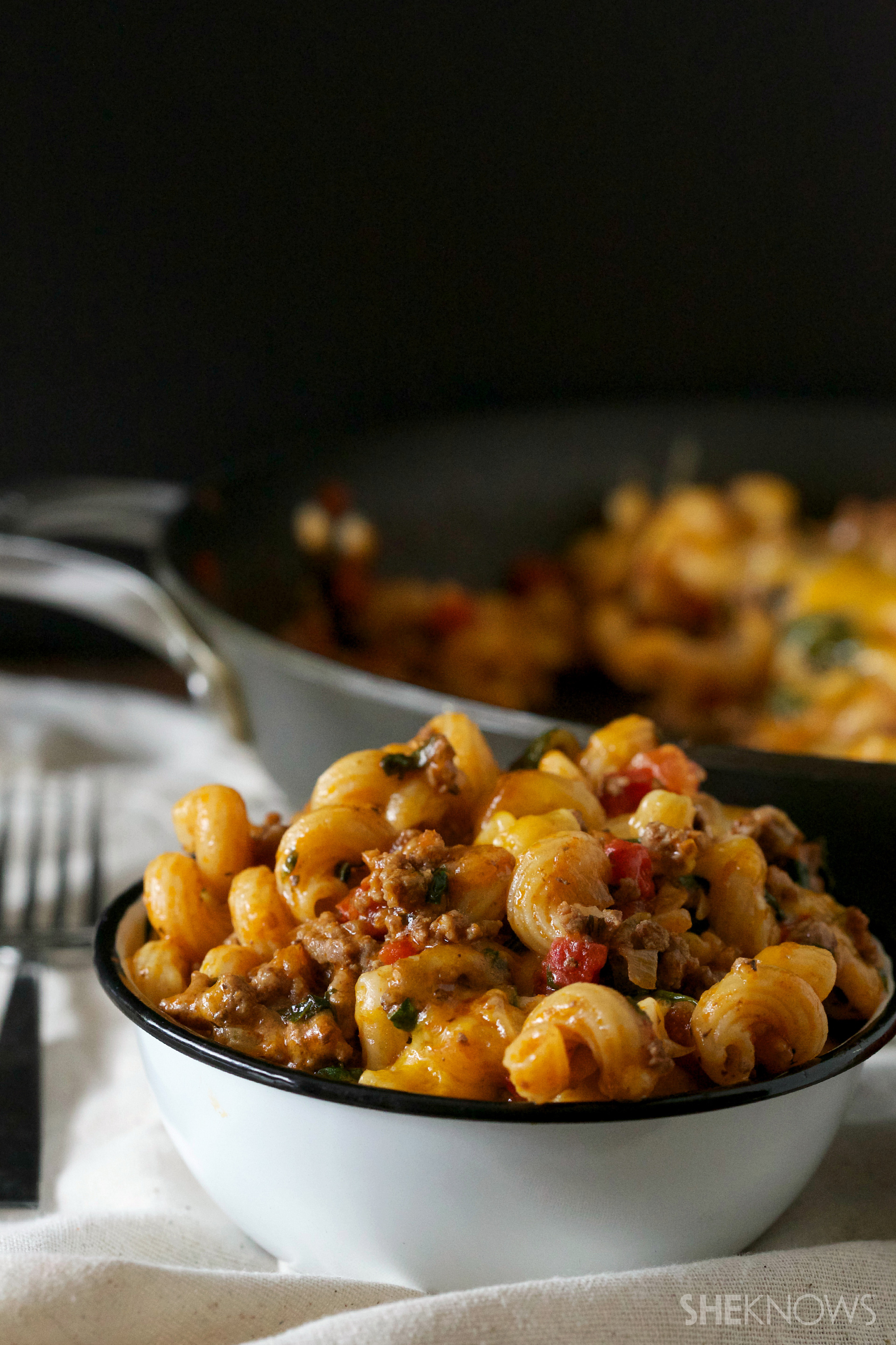 You can't go wrong with this easy, cheesy one-skillet beef and mac