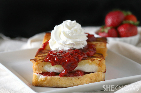 stuffed angel food cake french toast