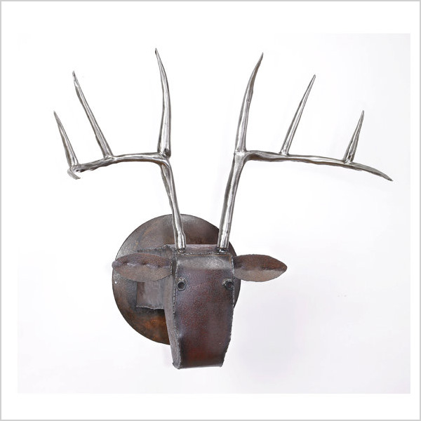 Metal deer head