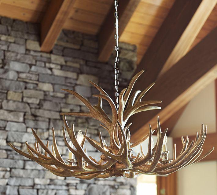 Deer chandelier