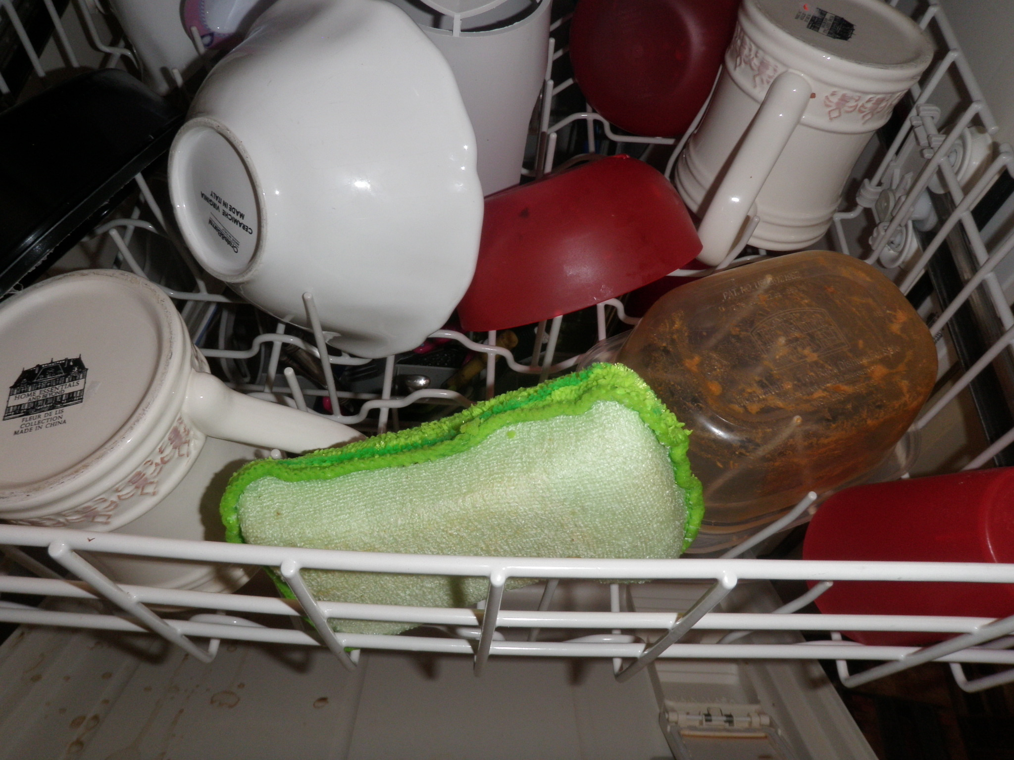 Sanitize sponges in the dishwasher