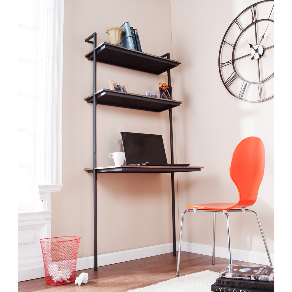 Why wall mounted desks are perfect for small spaces Desk with shelves on side