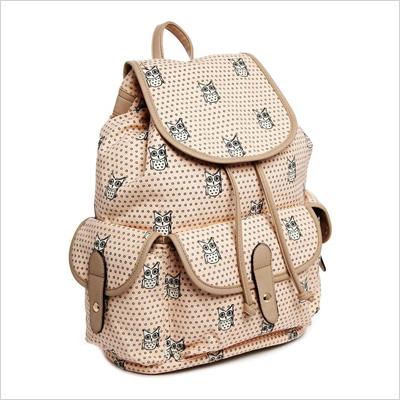 New Look Backpack in Owl Print