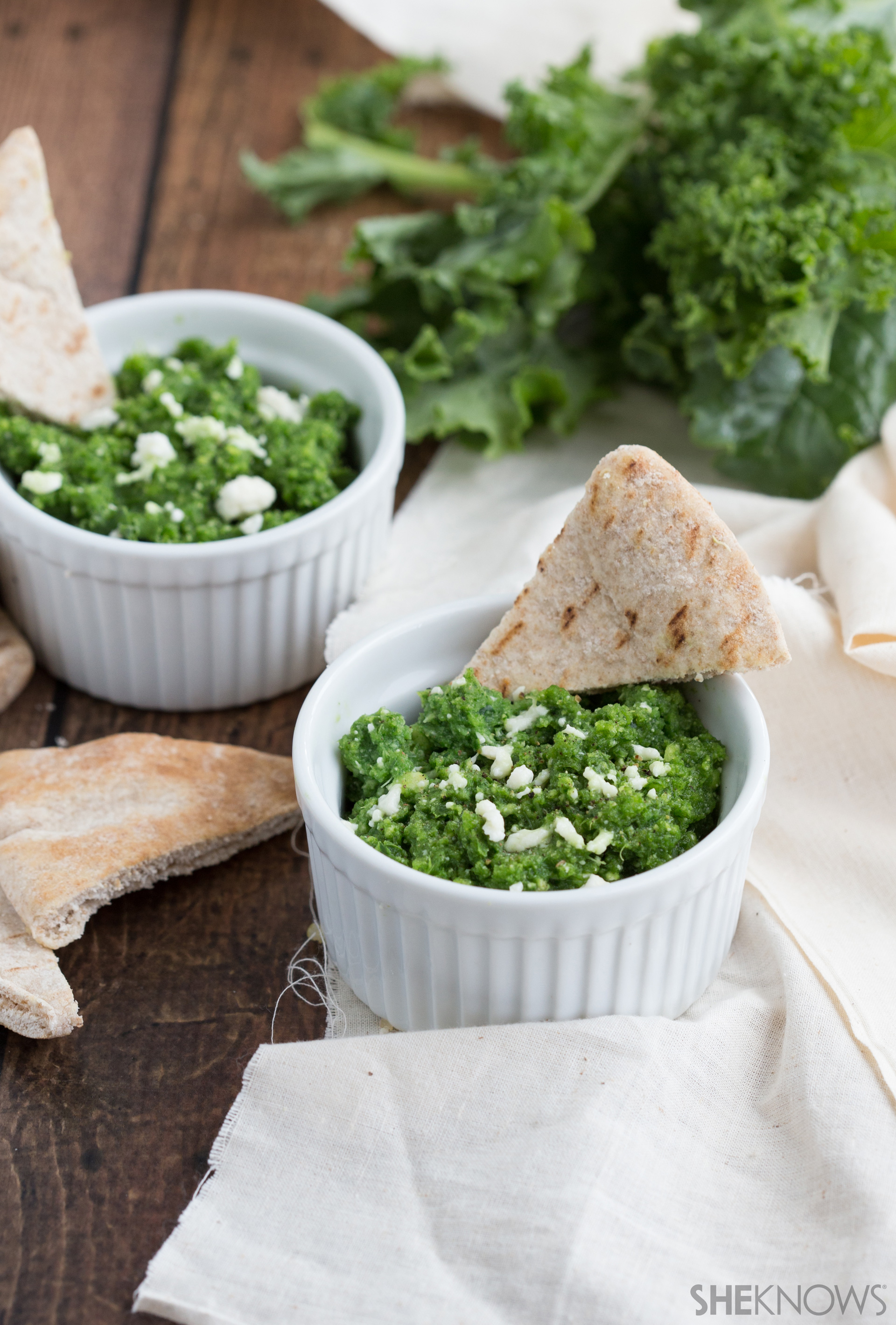 Dive into this delicious dip made with kale, ricotta and Parmesan