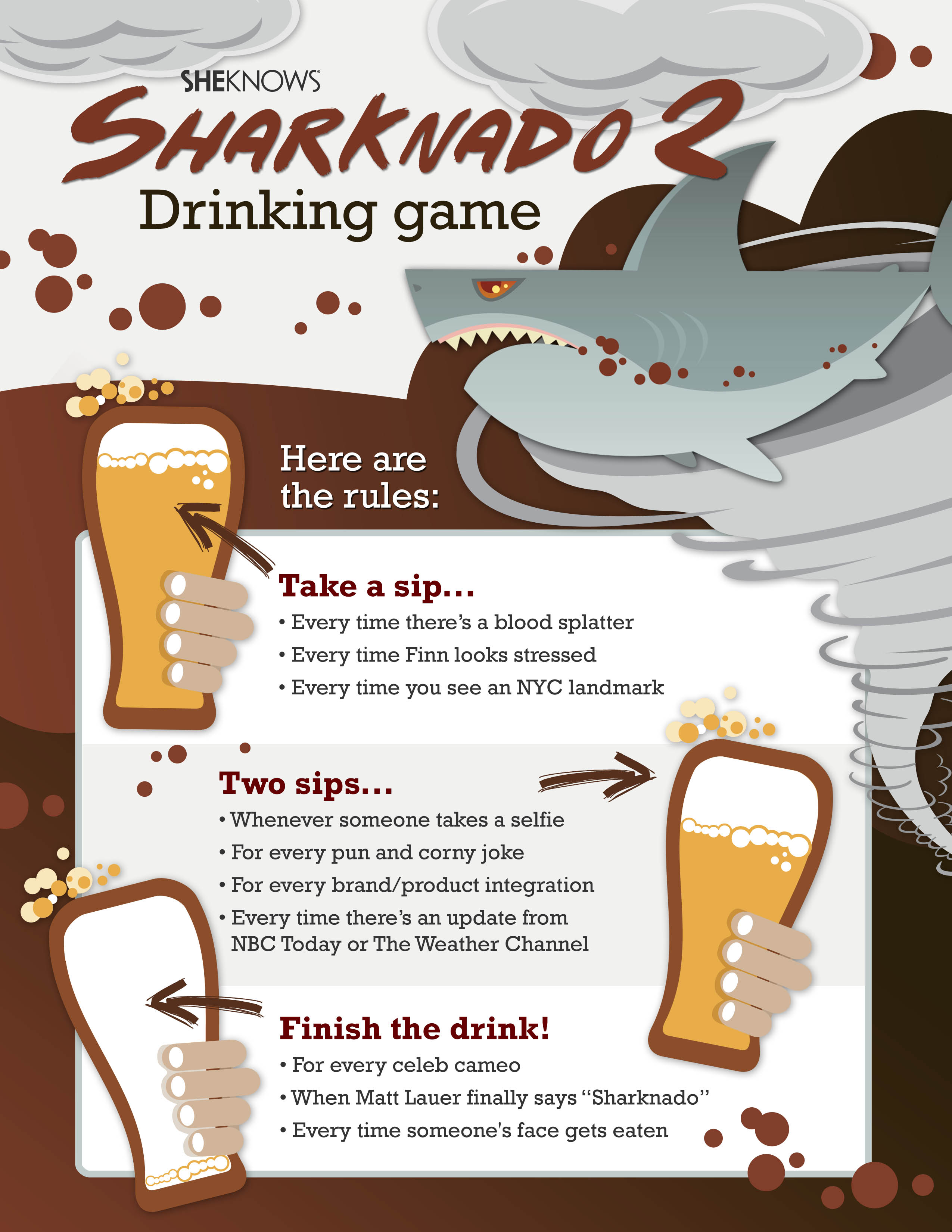Our Sharknado 2 drinking game will take a chomp off your liver