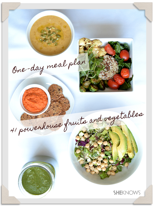 Powerhouse fruits and veggies: Menu for a day