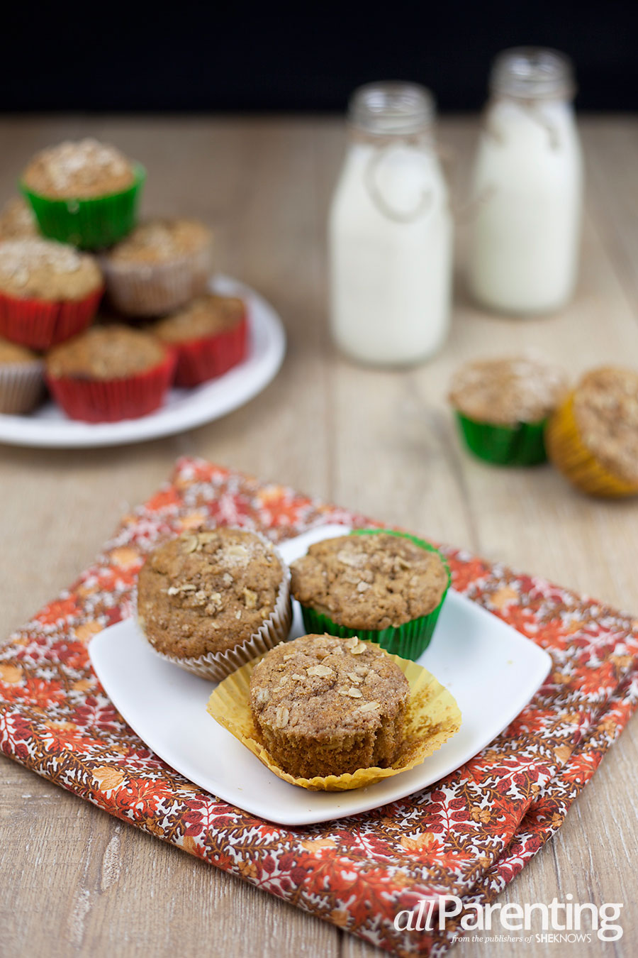 allParenting Whole wheat apple cinnamon muffins